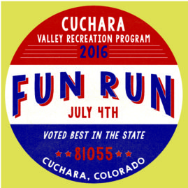 2016 Cuchara Valley Fun Run Shirt